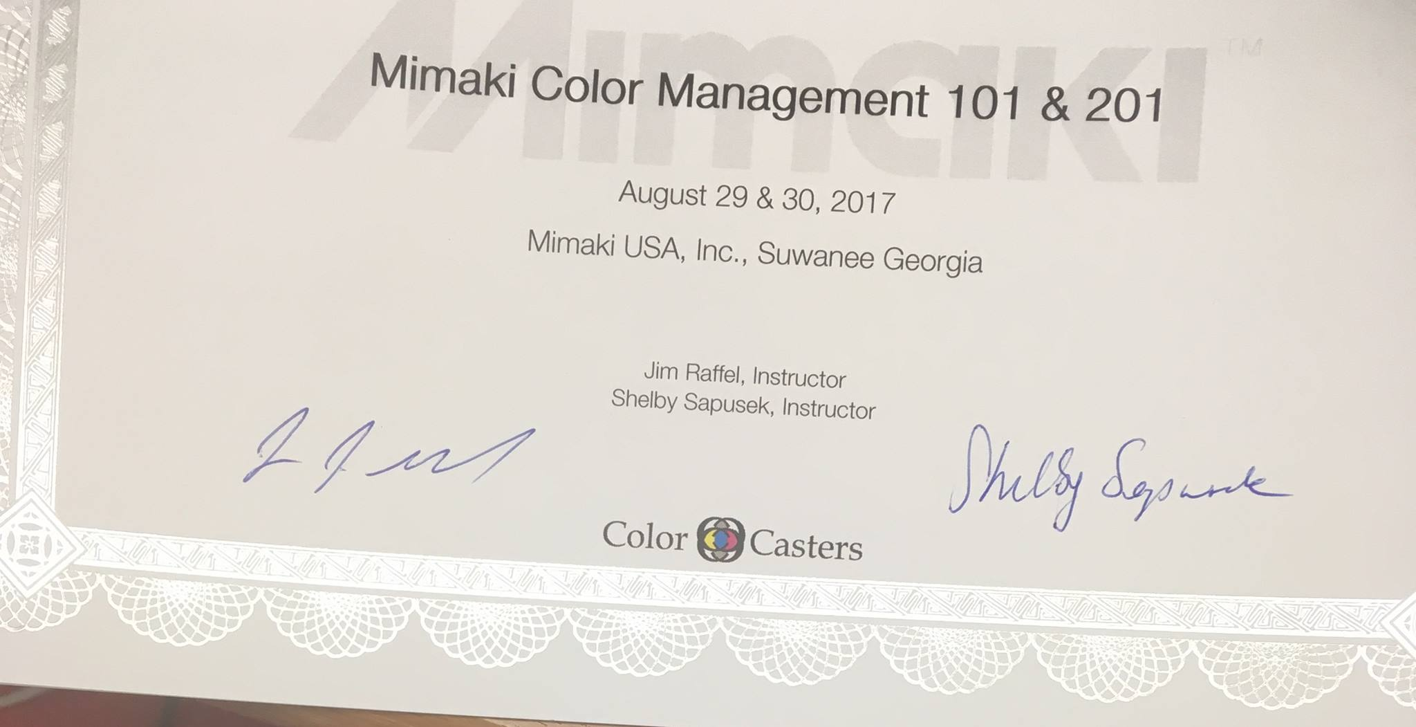 Review of Color Management 101/201 Workshops