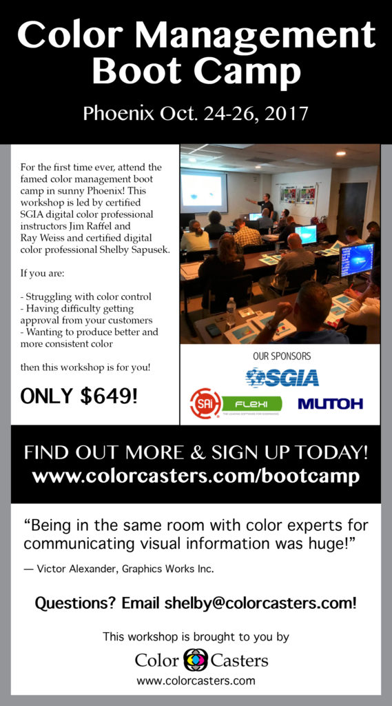 Image of Color Management Boot Camp Mutoh Promo Edited