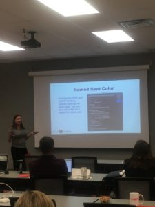 Image of Shelby teaching at Color Management 101