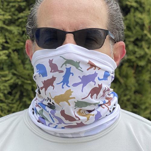Image of ChroMasks Gaiter style mask Cats design