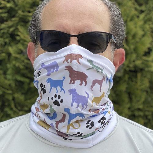 Image of ChroMasks Gaiter style mask Dog design