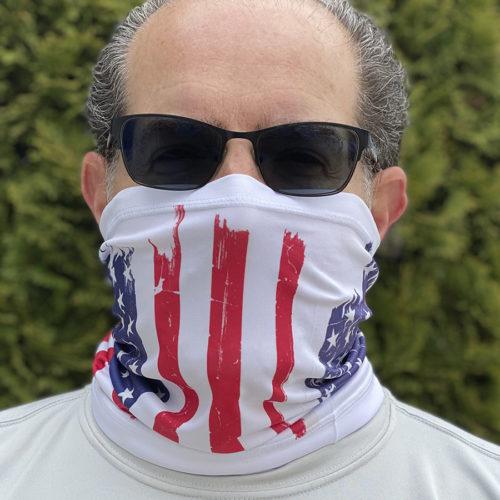Image of ChroMasks Gaiter style mask Flag design