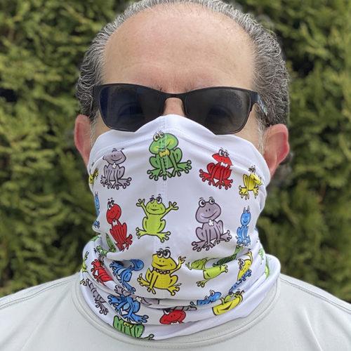 Image of ChroMasks Gaiter style mask Frogs design