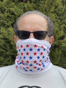 Image of ChroMasks Gaiter style mask Stars design