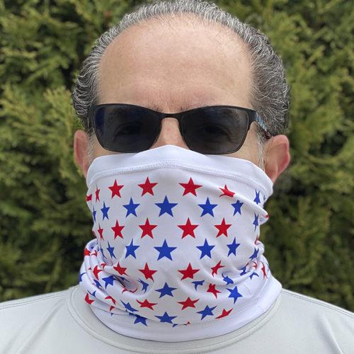 Image of ChroMasks Gaiter style mask Stars design