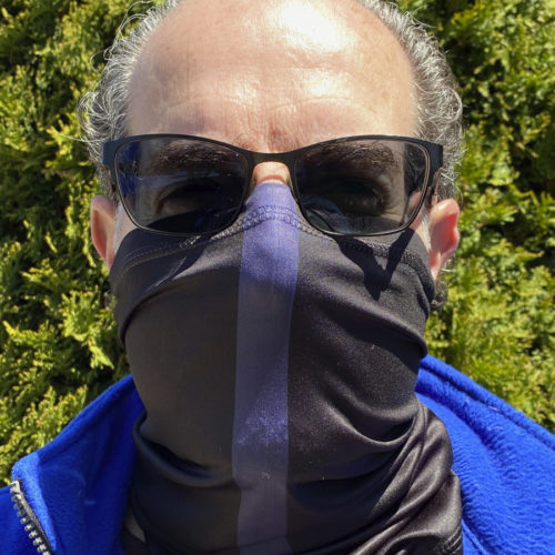 Image of ChroMasks Gaiter style face coverings LEO Only design