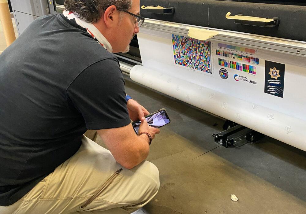Image of Jim Raffel doing color management