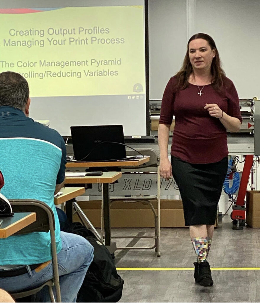 Image of Shelby at Color Management Boot Camp
