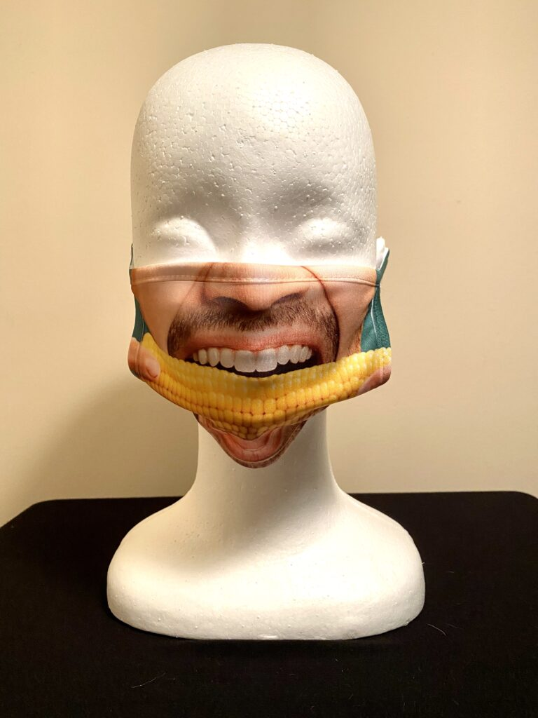 Image of Corn on the Cob face mask